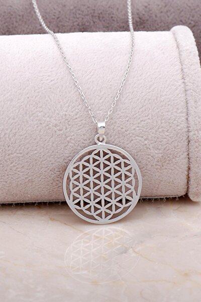 Yaşam Çiçeği Gümüş Tasarım Kolye 6847