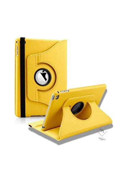 Samsung Galaxy Tab A 8.0 T290 T295 T297 Kılıf 360 Dönebilen Standlı Kılıf Sarı