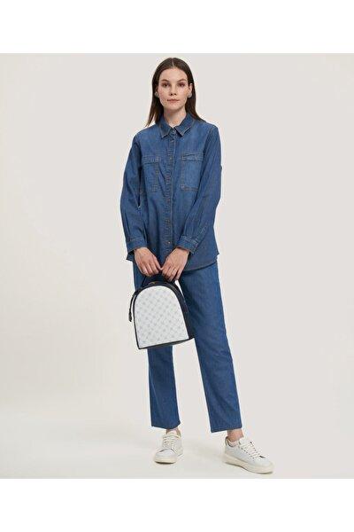 Kadın  Jean Gömlek 2778