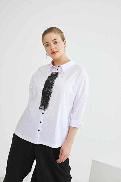 Fırçalı Koton Gömlek