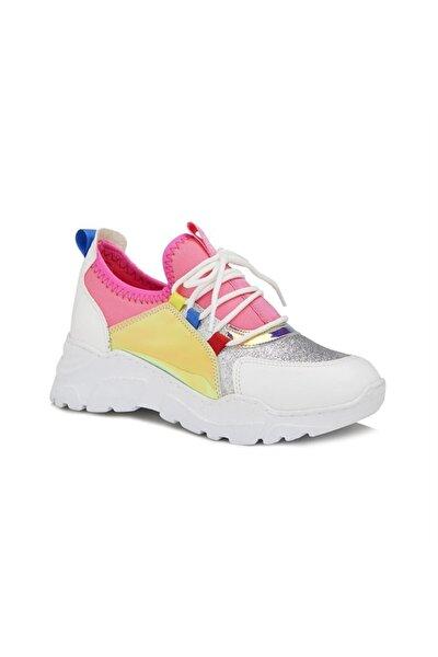 Verona Spor Ayakkabı Beyaz/fuşya