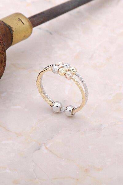 Kadın Beyaz Dorica Renkli Gümüş Yüzük 3006