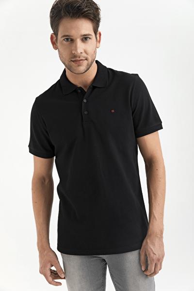 Polo Yaka Düz T-Shirt