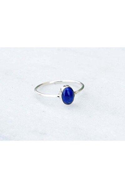 Gümüş Kadın Lapis Lazuli Taşlı 925 Ayar Yüzük