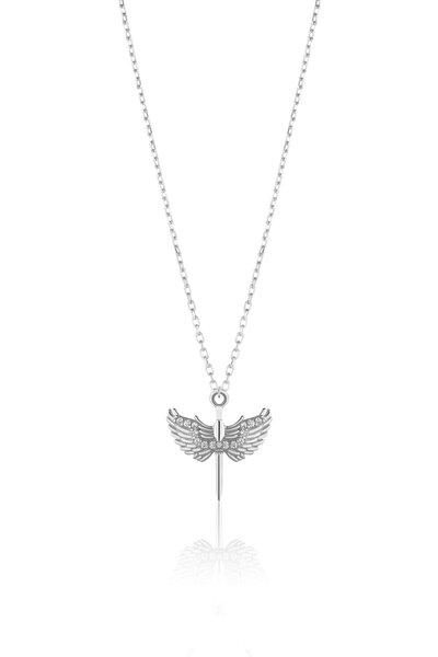 925 Ayar Gümüş Milail Meleği Kolye