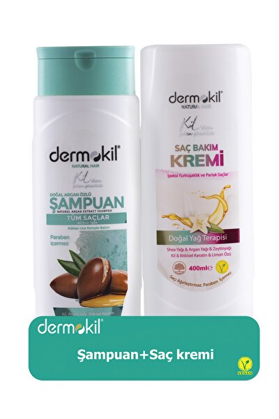 Argan Şampuan 400 ml ve Saç Kremi 400 ml 8697916004028