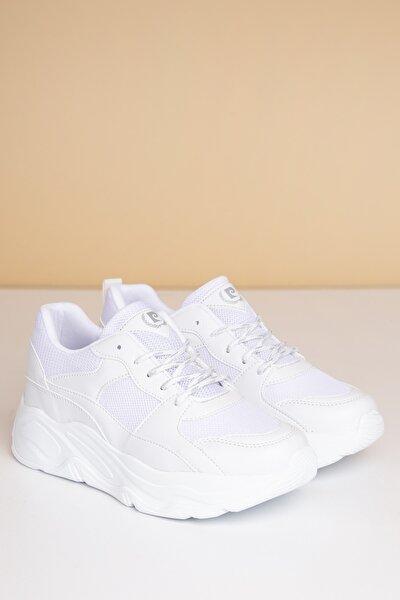 Kadın Günlük Spor Ayakkabı-Beyaz