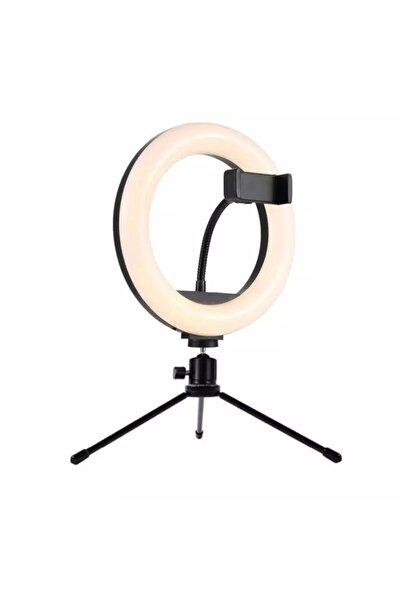 Ring Light Sürekli Işık 8 Inch Halka Işık Youtuber Video Makyaj Kuaför Işığı Make Up Light