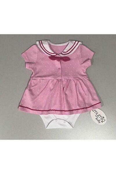 Kız Bebek Pembe Elbise Body