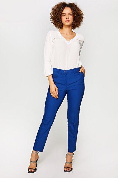 Kadın Saks Straight Fit Chino Pantolon 60065 u60065