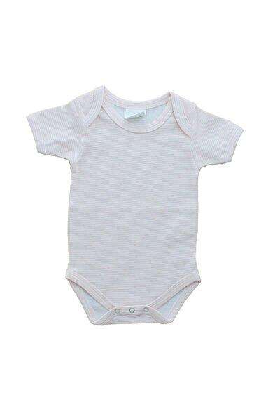 Çizgili Kısa Kollu Bebek Çıtçıtlı Amerikan Yaka Body
