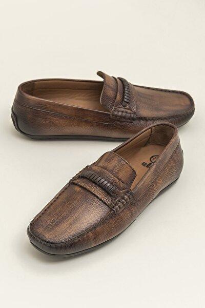 Hakiki Deri Acwel Taba Erkek Loafer Ayakkabı 20YKS9908