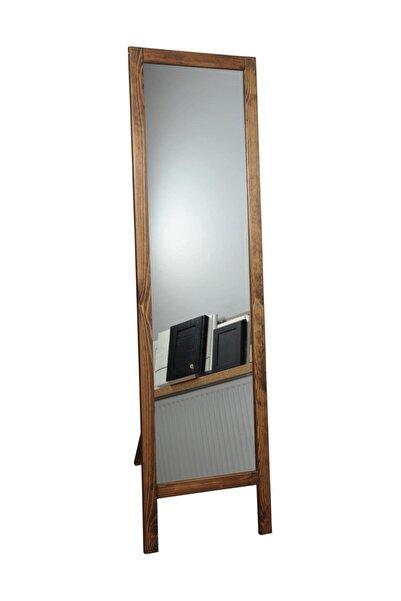 Dekor Ayaklı Boy Aynası Masif Ahşap