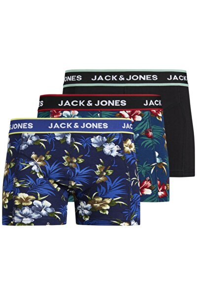 3'lü Boxer - Flowers Trunks 12171253