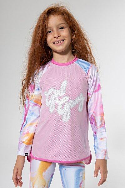 Stay Active Girl Gang Tshirt Pembe