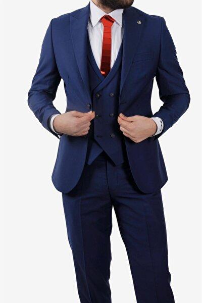 Erkek Lacivert Slim Fit Takım Elbise