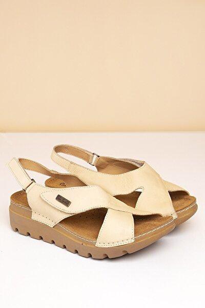 PC-1378 Bej Kadın Sandalet