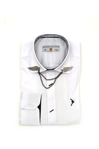 Yakası Zincirli Gömlek