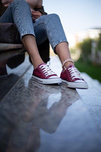 Bordo Kadın Spor Ayakkabı