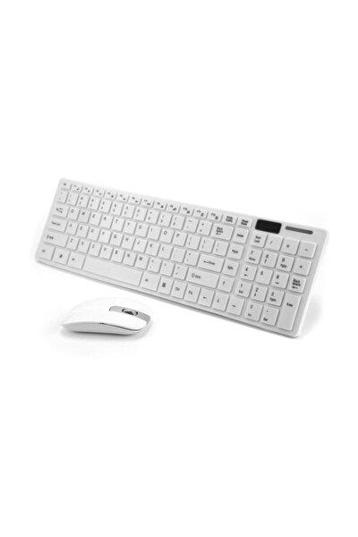 Klavye Mouse Set Wireless Ultra İnce Beyaz  Pl-374
