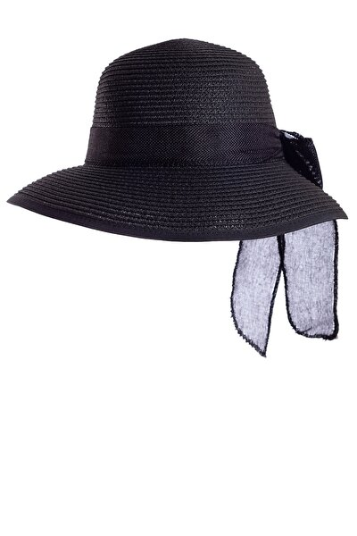 Hs-04 Hasır Şapka-siyah