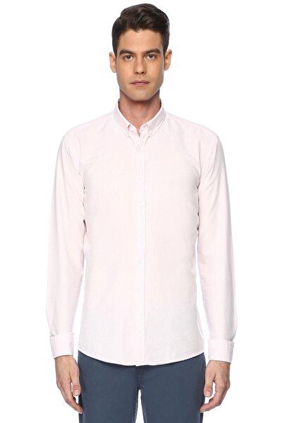 Erkek Oxford Slım Fit Pembe Gömlek 7003343