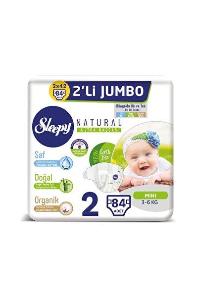 Natural Bebek Bezi 2 Beden Mini 2'li Jumbo 84 Adet