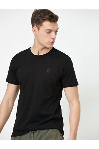 Erkek Siyah T-Shirt 0YAM12028MK