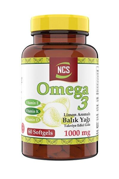 Limon Aromalı Omega 3 Balık Yağı 1000 Mg Vitamin D Vitamin K Vitamin E 60 Softgels