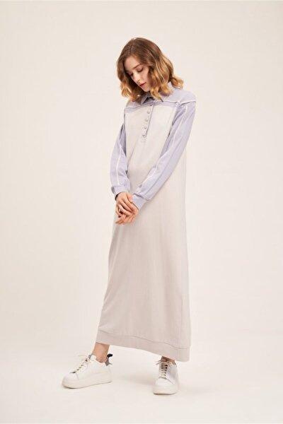Kadın Camel İki İplik Polo Elbise  Elbise