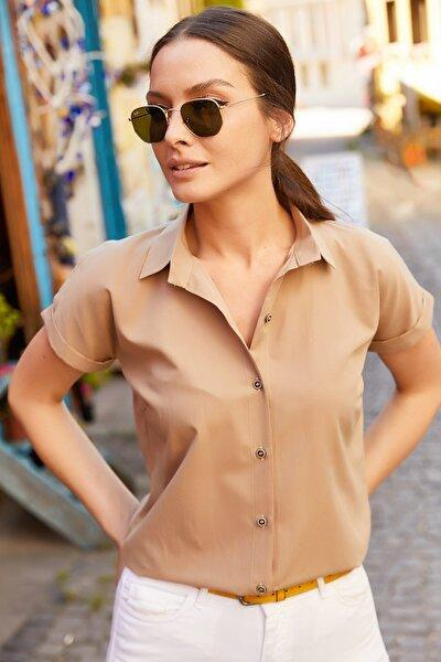 Kadın Vizon Kısa Kol Gömlek Arm-19Y001065