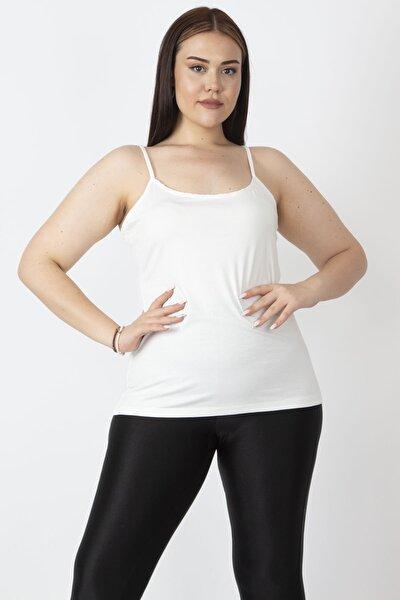 Kadın Kemik Ayarlı İp Askı Viskon T-Shirt 65N16908