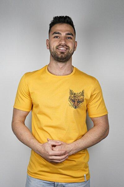 Tilki Nakışlı T-shirt
