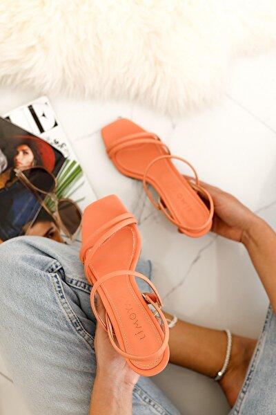 Hadleigh Kavun-içi Rengi Bantlı Kısa Ince Topuklu Sandalet