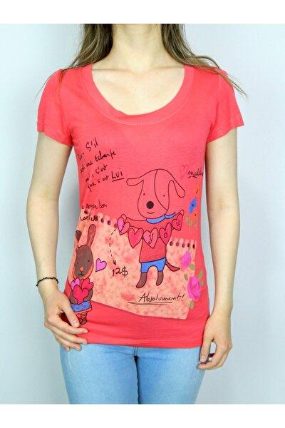 Kadın Pembe Uzun T-shirt