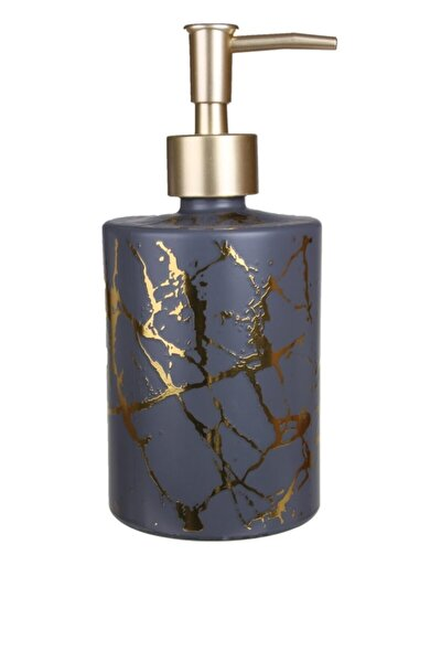 Gri Mermer Görünümlü Cam Sıvı Sabunluk