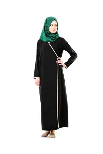 Siyah Yandan Bağlamalı Kadın Elbise - No:13