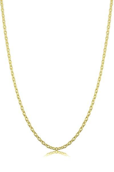 Kadın Gümüş Ince Forse Zincir 24 Ayar Altın Kaplama Kolye Özel 0.70mm Mücevher
