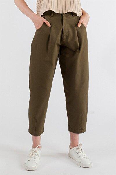 Kadın Haki Balon Pantolon