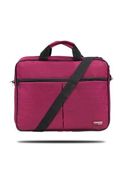 BND305 El Çantası 15,6 inç Uyumlu Laptop Notebook El Çantası-Bordo,