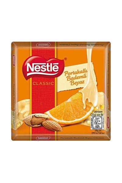 Portakallı Bademli Beyaz Kare Çikolata 65 gr