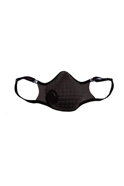 Filtreli Ayarlı Siyah Moda Yüz Maskesi