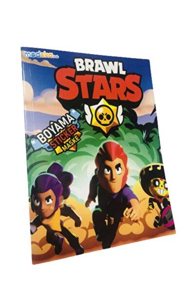 Brawl Stars Boyama Kitabı Sticker Maske Hediyeli