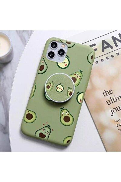 Apple Iphone 11 Avokado Desenli Tutacaklı Kılıf