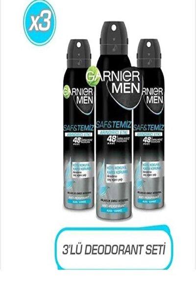 Men Saf & Temiz Erkek Deodorant 150 Ml X 3 Adet