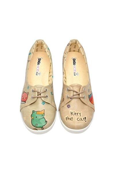 Kitty The CatTasarım Baskılı Vegan  Pluto Kadın Ayakkabı