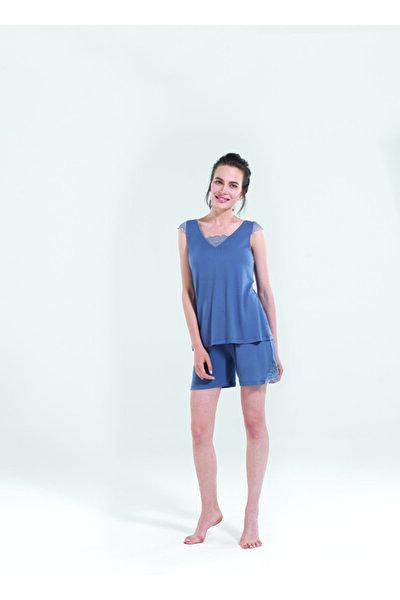Kadın Kısa Pijama Takımı 50124 - Antrasit