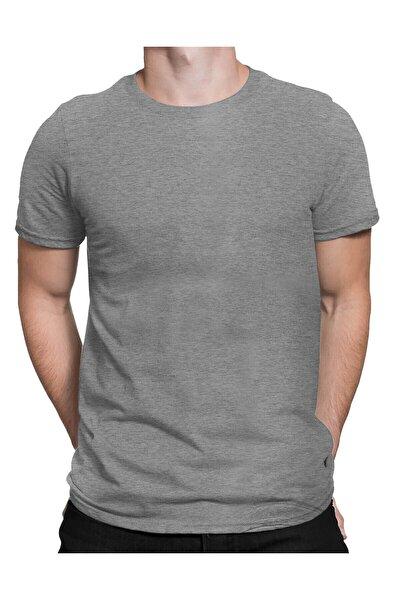 Erkek Gri Basic T-shirt