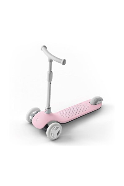 Mitu Işıklı Ayarlanabilir 3 Tekerlekli Scooter Pembe