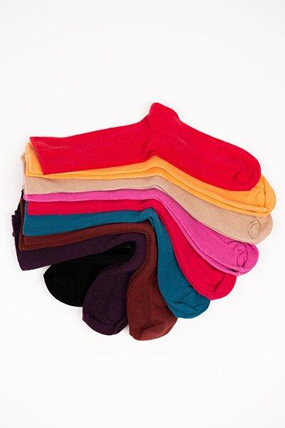 9'lı Çok Renkli Kadın Çorap